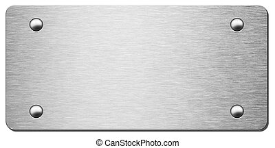 metal plate with shadow isolated 3d illustration