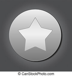 Metal plate with star