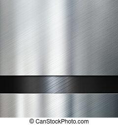 metal plates over black metallic background 3d illustration...