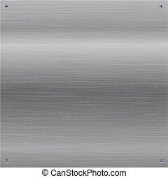 metal polido, screws., escovado, fundo, brilhante