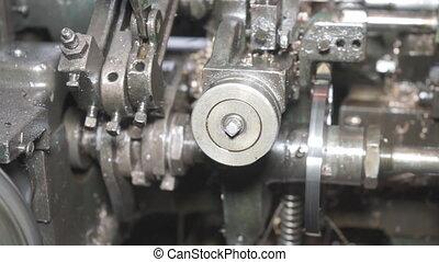 Metal Processing Machine - Industrial plot of CNC machine...