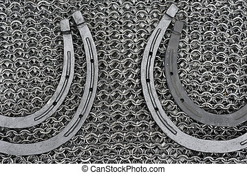 Metal products blacksmith - Military chainmail and horseshoe...