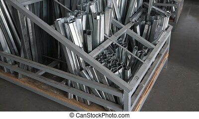Metal profiles for plastic and metal windows. Billets of a...