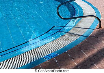 metal railings stairs pool