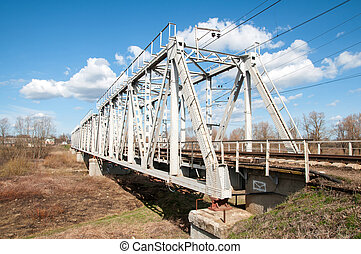 railway bridge - metal railway bridge close up