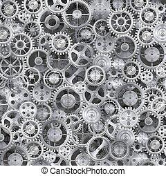 Metal realistic cogwheel background. Clean vector...
