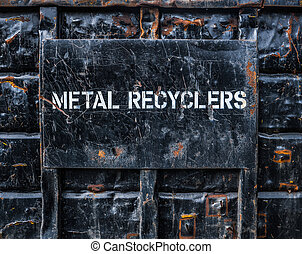 Metal Recycling Dumpster - Environmental Image Of A In ...