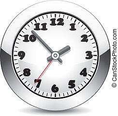 metal, relógio