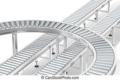 Metal Roller Conveyor System.