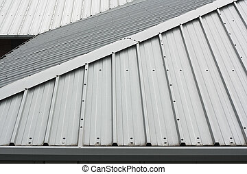 Metal roof background - Architectural detail of metal ...