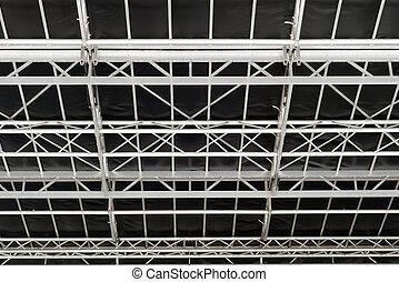 Metal roof construction of music scene.