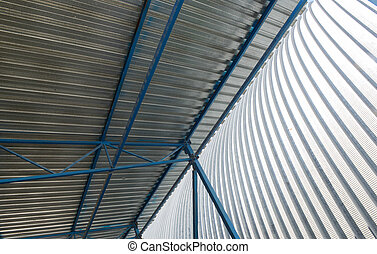 metal roof of industrial facility