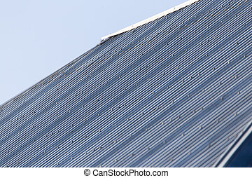 metal roof of the house