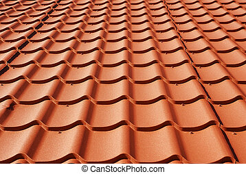 metal roof texture background closeup