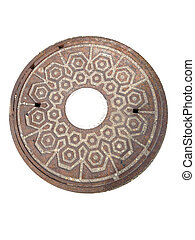Metal round cover - Ornate metal cover round