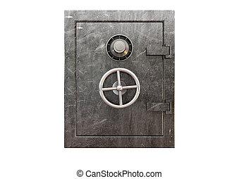Metal Safe Front - A regular metal safe with a combination...