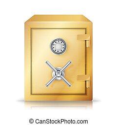 Metal Safe Realistic Vector. Combination Lock. Vector Illustration