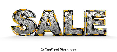Metal Sale text. Image with clipping path.