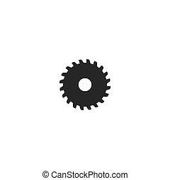 Metal saw logo vector icon template