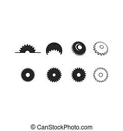Metal saw logo vector icon template