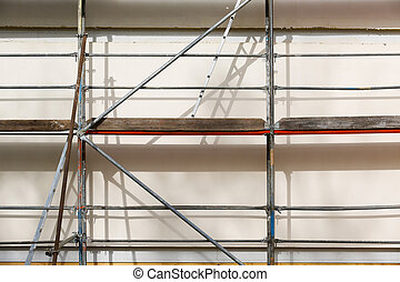 Metal scaffold for house building
