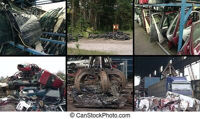 metal scrap collage