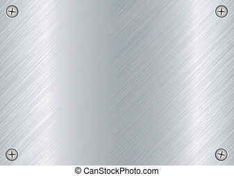 metal screw plate - abstract Brushed silver metal background...