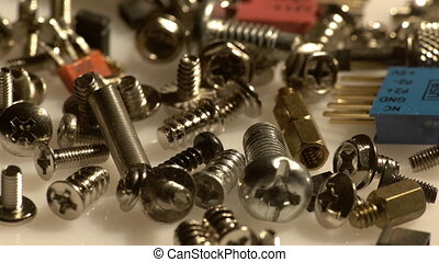 Metal screws and computer spare parts