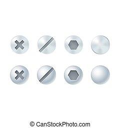 Metal screws set