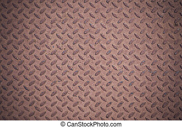 Metal seamless steel diamond plate texture pattern background