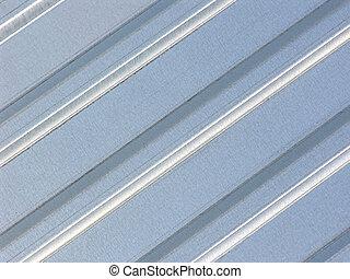 Metal sheet - Folded metal sheet with visible zinc...
