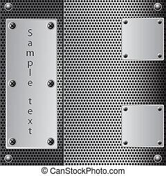 metal shield background