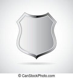Metal shield icon