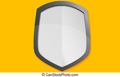 Metal shield icon illustration isolated