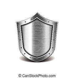 Metal shield isolated on white vector