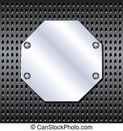 Metal shield - Metal octagon shield screwed to the grid