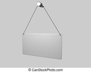 metal shield on white background