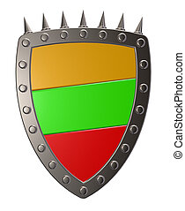 Lithuania - metal shield with flag of Lithuania - 3d ...