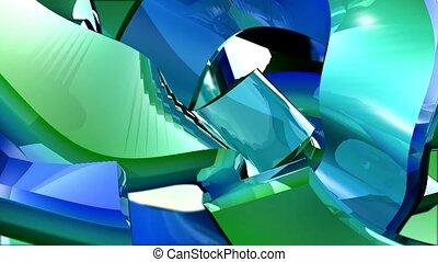 metal, shiny, blue,