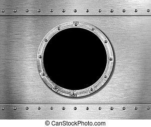 metal ship porthole