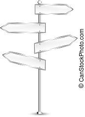 metal signposts - vector illustration of metal signposts