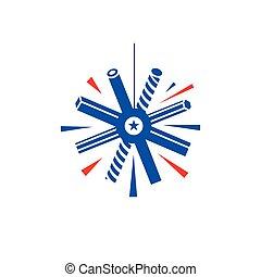 Metal snowflake Vector Sign - Branding Identity Corporate...