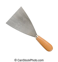 metal spatula isolated on a white background with clipping...