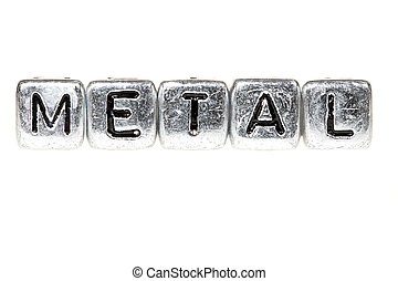 Metal spelled out - The word metal spelled in blocks of ...
