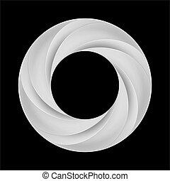 Metal spiral ring