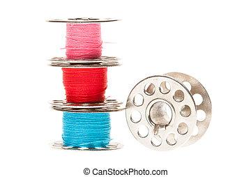 Metal spools of thread