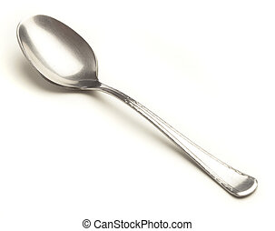 metal spoon isolated on a white background