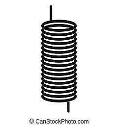Metal spring icon, simple style