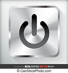 Metal Start Power Button.