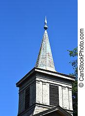 Metal Steeple on Methodist Church at Old Washington